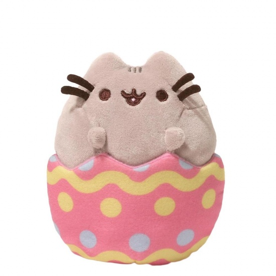 Pusheen Easter Egg Plush  - Grey Cat