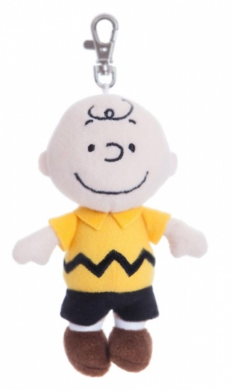 PEANUTS 5'' Charlie Brown Keyring Backpack Clip