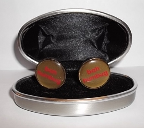 Bah Humbug - Christmas Novelty Cufflinks