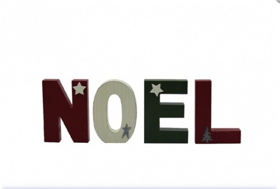 Noel Wooden Letter Blocks - Decorative Blocks - Vintage / Retro