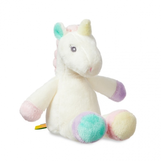 Lil' Sparkle Unicorn Rattle 8 inch Soft Plush Baby Toy