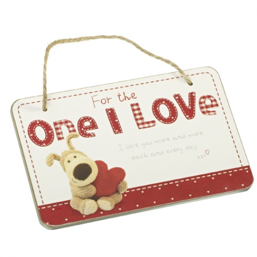 Boofle - Wooden Hanging Plaque - For The One I Love