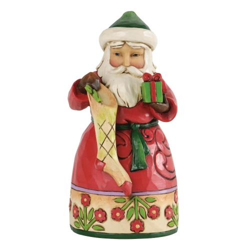 Jim Shore - Heartwood Creek - Small Santa with Stocking - Figurine