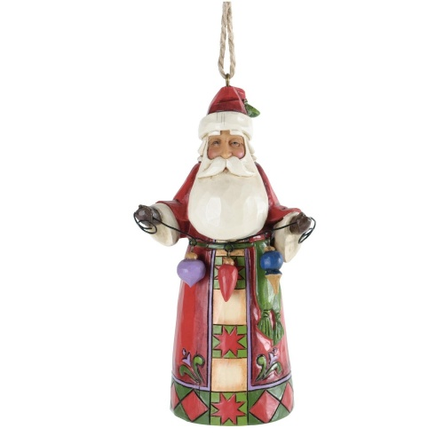 Jim Shore - Heartwood Creek - Santa with Christmas Ornaments Hanging Figurine