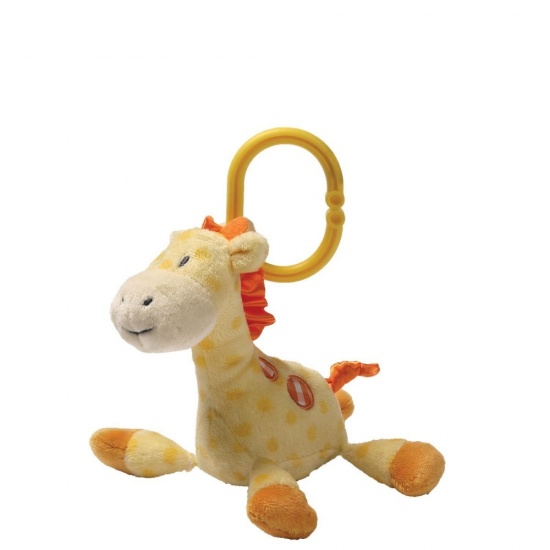 Gund Grigsby Giraffe Stripes & Dots Activity Toy - with cot / pram / car seat clip