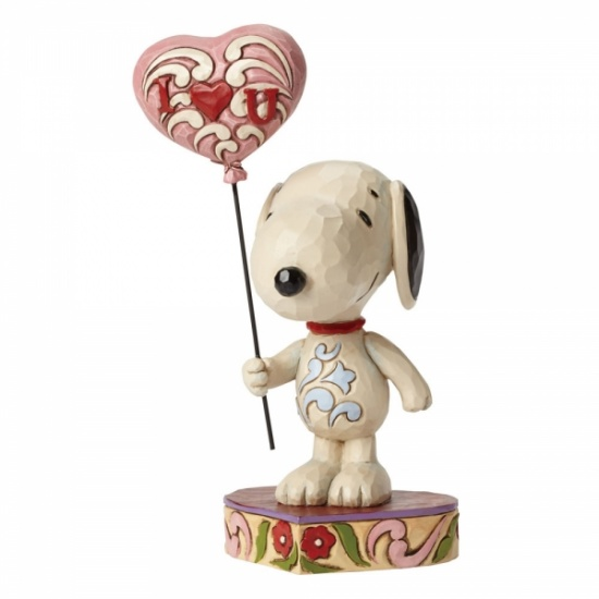 Jim Shore Peanuts - I Heart You - Love Snoopy with heart balloon