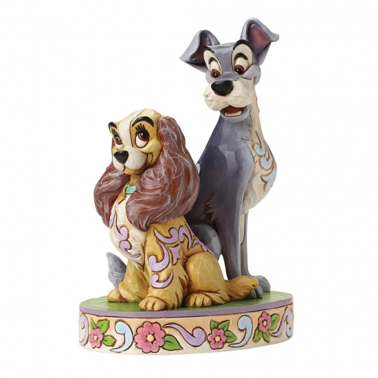 Disney Traditions Lady & The Tramp 60th Anniversary Opposites Attract Figurine