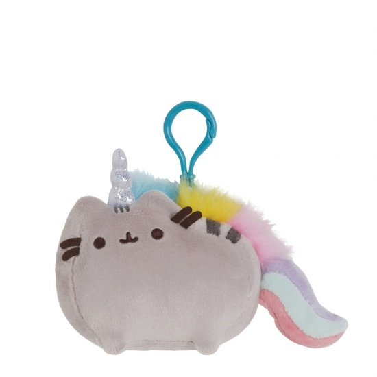 Pusheenicorn Backpack Clip - Pusheen Unicorn Grey Cat.