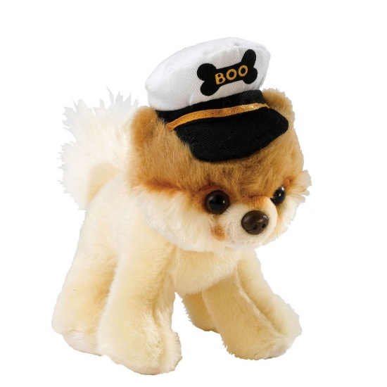Itty Bitty Boo with Captain's Hat - The Worlds Cutest Dog - Soft Toy