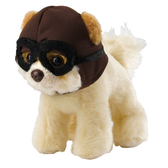 Itty Bitty Boo with Pilot Hat & Goggles - The Worlds Cutest Dog - Soft Toy