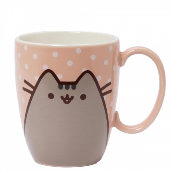 Pusheen the Cat Pink Polka Dot Mug - Boxed Mug