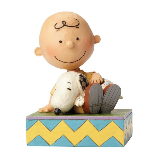 Jim Shore Peanuts - Happiness Is Snuggling - Charlie Brown and Snoopy Figurine
