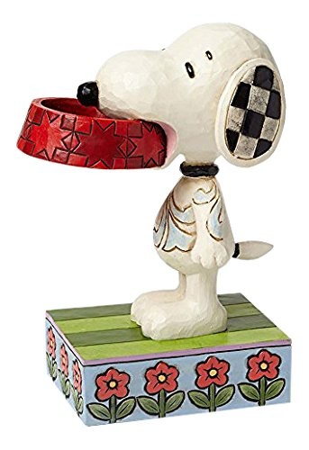 Jim Shore Peanuts -  Snoopy with Dog Dish Figurine