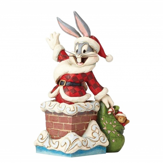 Looney Tunes - Up On The Roof Top Bugs Bunny Figurine - Jim Shore