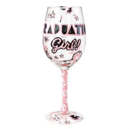 Lolita Graduation Girl Hand Painted Wine Glass - Gift Boxed