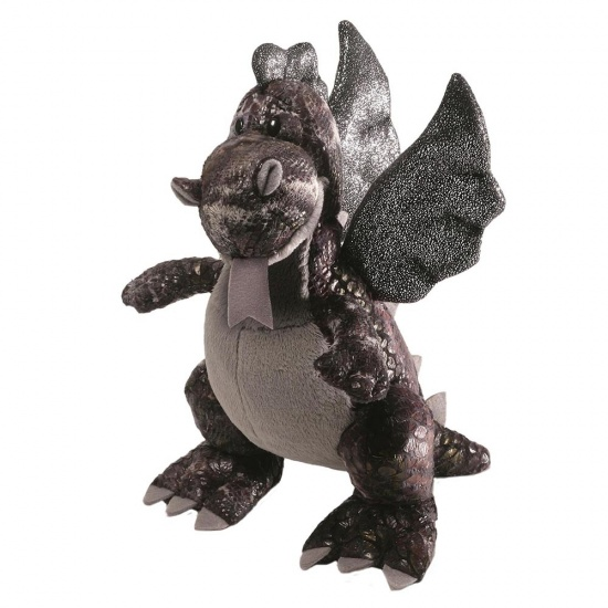 Gund - Sparx Black Dragon soft toy