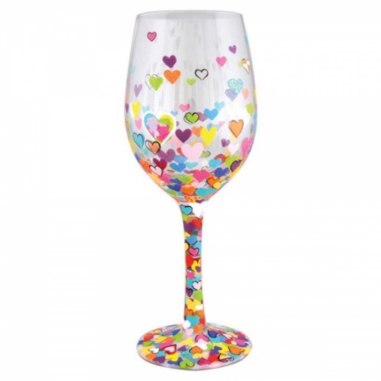 Lolita Hearts-A-Million Wine Glass - Gift Boxed