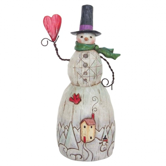 Jim Shore Heartwood Creek Christmas Folklore Snowman with Heart