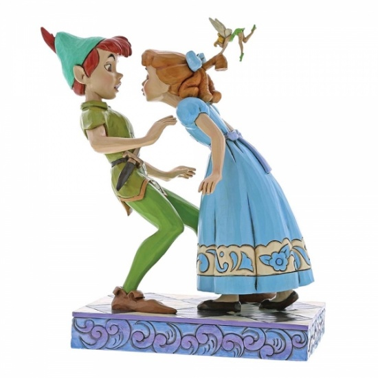 Disney Traditions - An Unexpected Kiss Peter & Wendy 65th Anniversary Piece