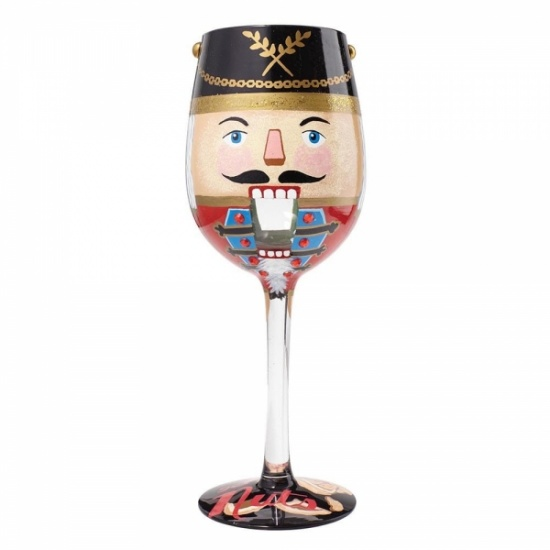 Lolita Let's Get Nuts Wine Glass - Gift Boxed - Christmas Nutcracker