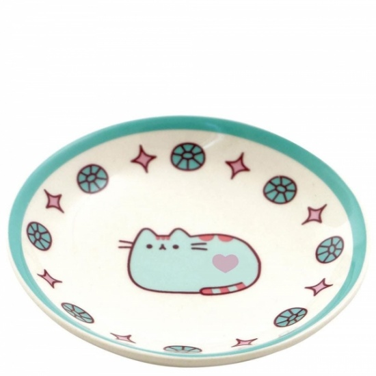 Pusheen the Cat Green Ceramic Ring Dish / Trinket tray
