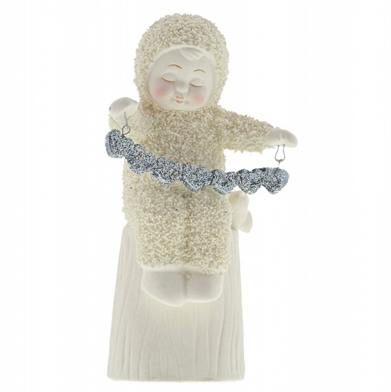 Snowbabies A Whole Lot Of Love Silver Garland Figurine