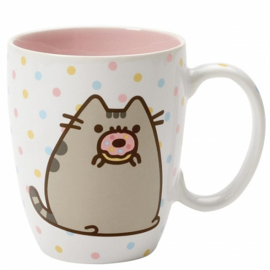 Pusheen the Cat Donut Polka Dot Mug - Gift Boxed Mug