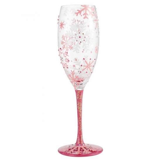 Lolita Blushing Snowflakes Prosecco Glass - Gift Boxed
