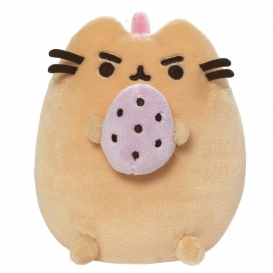 Gund Pusheen the Cat Strawberry Banana Standing with Egg Large Plush