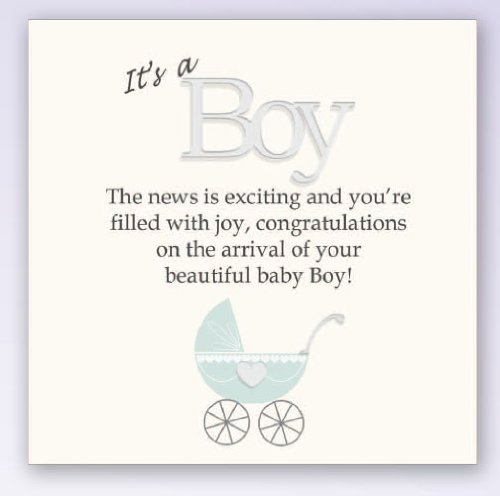 It's A Boy - New Baby Picture Block Wall Plaque