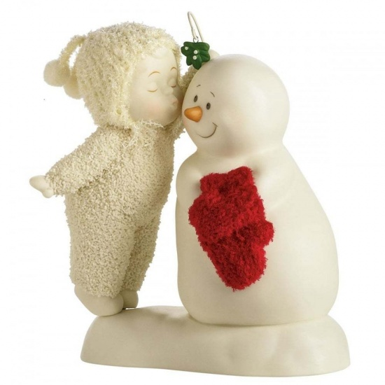 Snowbabies - Meet Me Under The Mistletoe Figurine