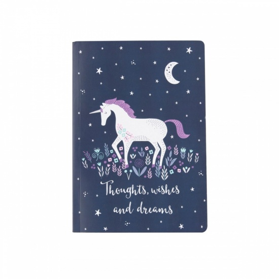 Starlight Unicorn Notebook - A5 Notebook
