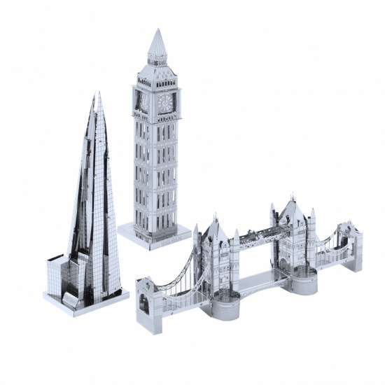 Metal Art Construction Set The London Collection - Big Ben, Tower Bridge, Shard