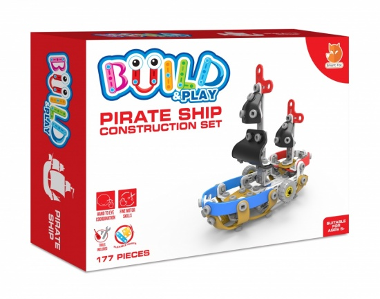 Child's Build & Play Construction Set - Pirate Ship - Age 5 plus