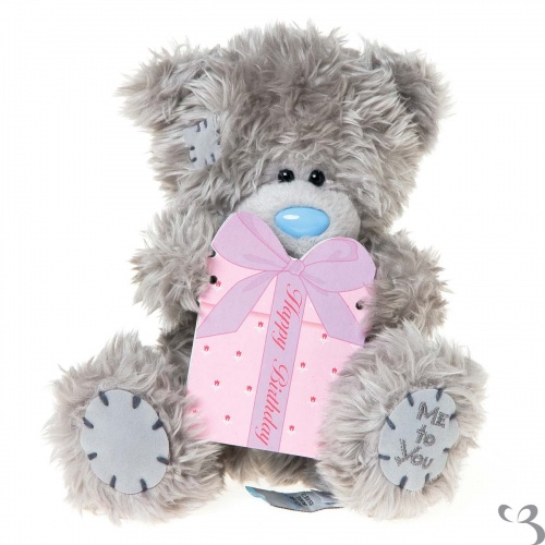 Me To You - 7'' Plush Bear - Happy Birthday Plaque