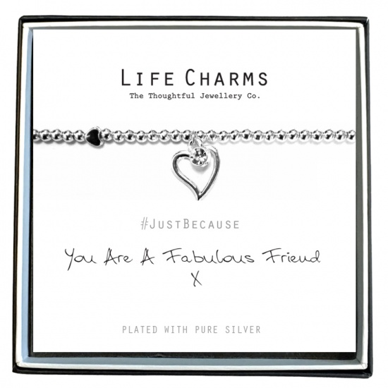 You Are A Fabulous Friend  - Silver Plated Bracelet - Life Charms