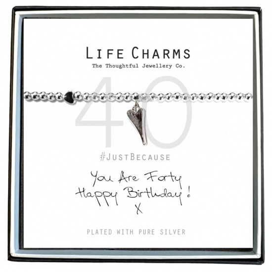 You Are 40 - Silver Plated Bracelet - Life Charms
