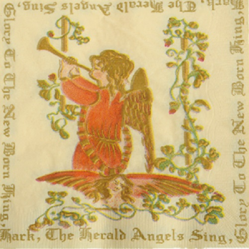 Musical Angels Luxury Napkins x 12 - Perfect for Christmas Parties and tables