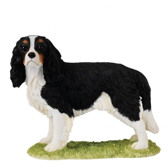 Border Fine Arts Dog Figurine Cavalier King Charles Tricolour