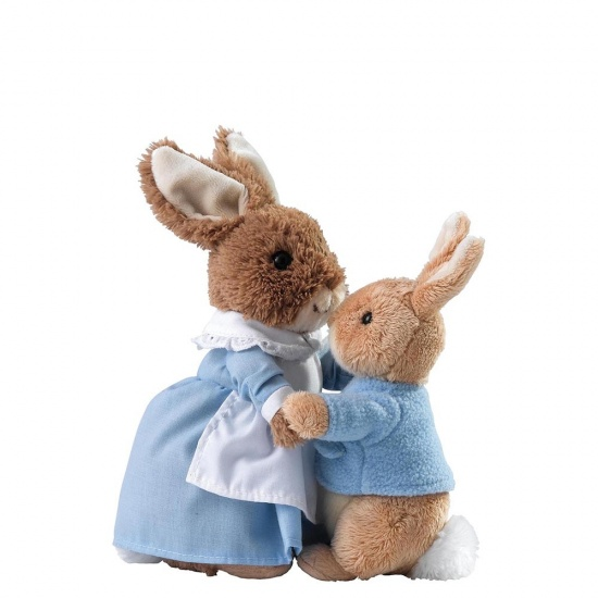 Beatrix Potter - Mrs Rabbit and Peter Soft Toy
