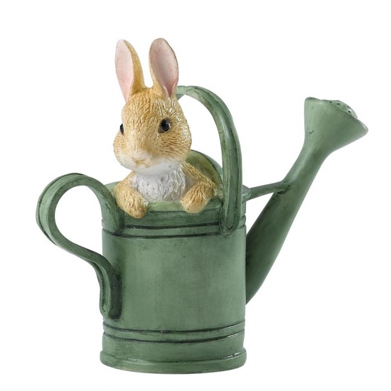 Beatrix Potter Peter Rabbit in Watering Can Mini Figurine / Ornament