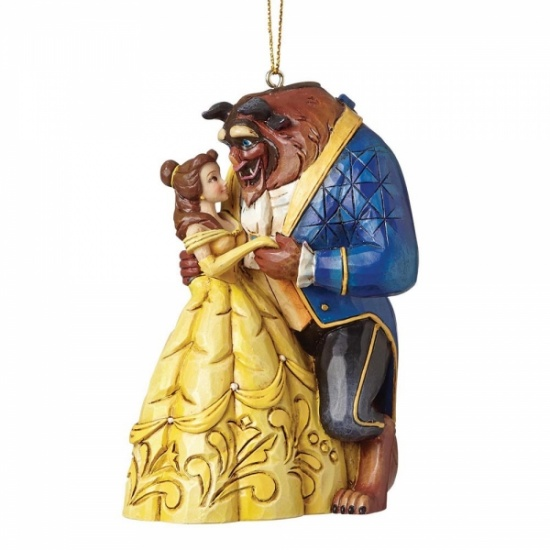 Disney Traditions - Belle and Beast Hanging Ornament - Beauty & the Beast