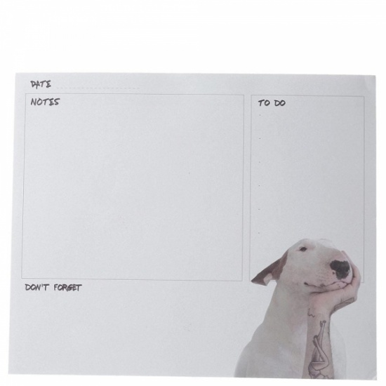 Jimmy the Bull English Bull Terrier Head in Hand Desk Pad
