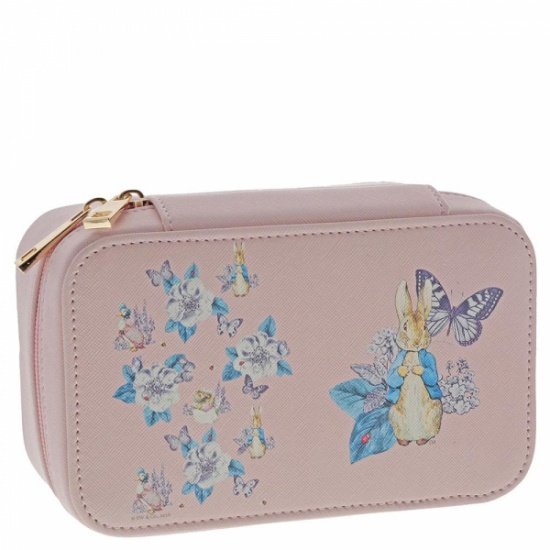 Beatrix Potter - Peter Rabbit Garden Party Pink Zip up Jewellery Box