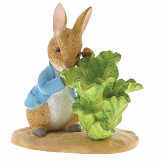 Beatrix Potter Peter Rabbit with Lettuce Figurine / Ornament