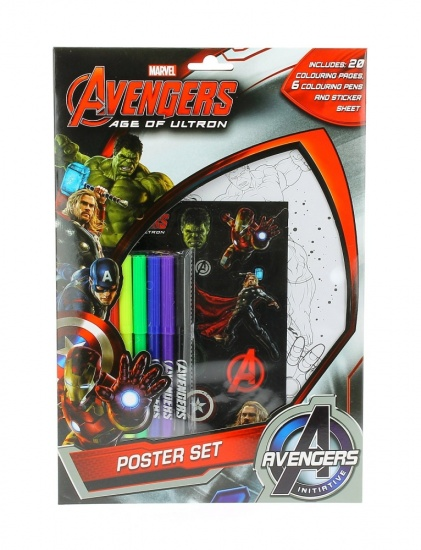 Marvel Avengers Age of Ultron - Colouring Poster Set