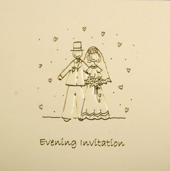 Bride & Groom Luxury Wedding Evening Invitations
