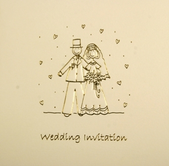 Bride & Groom Luxury Wedding Invitations