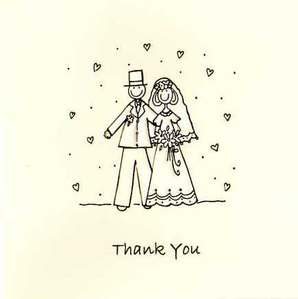 Bride & Groom Luxury Wedding Thank You Cards