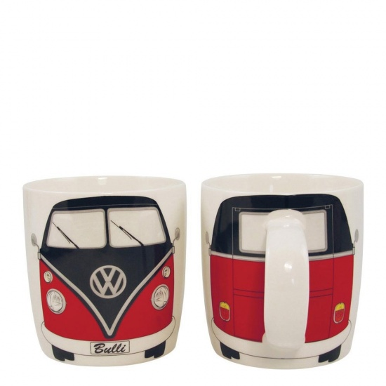 Official VW T1 Camper Van Mug - Red Volkswagon